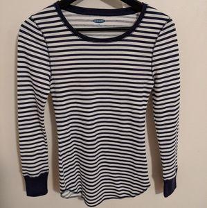 Old Navy Thermal Knit Long Sleeve Navy Blue Shirt